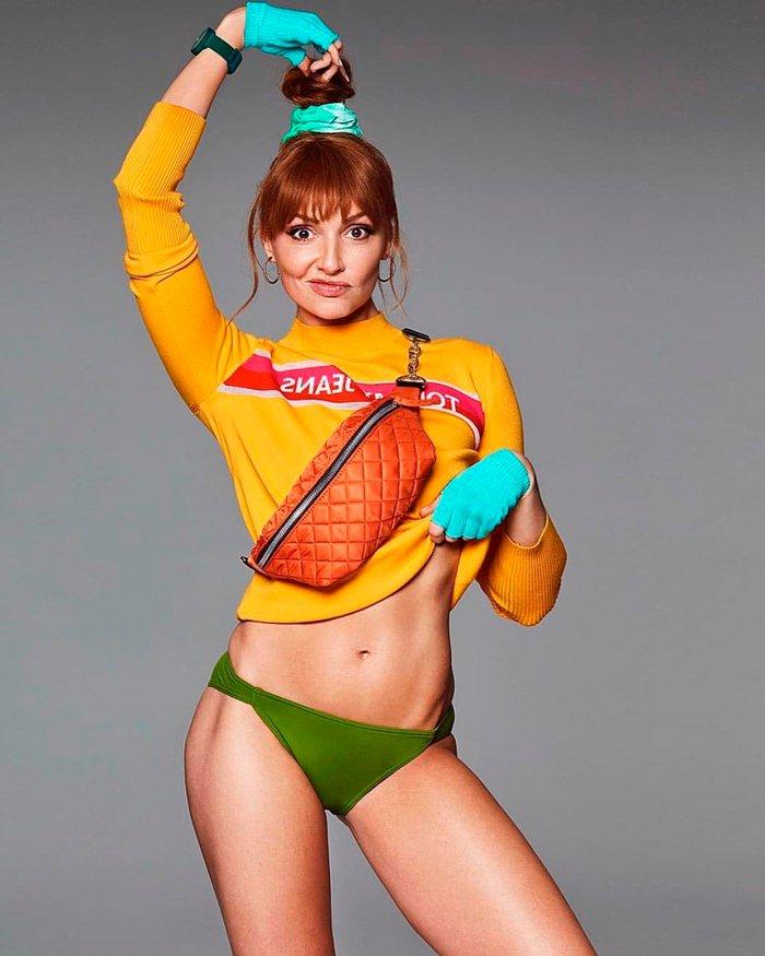 Cristina Castaño sexy vestido mallas gimnasia
