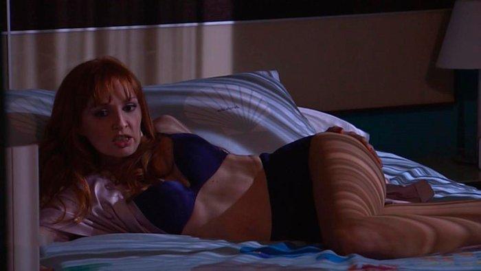 Cristina Castaño sobre la cama