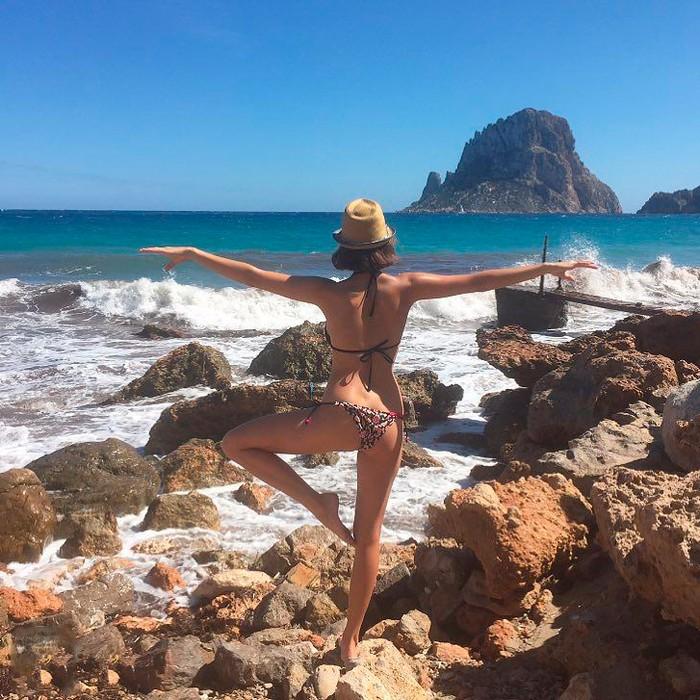Natalia Sánchez casi desnuda