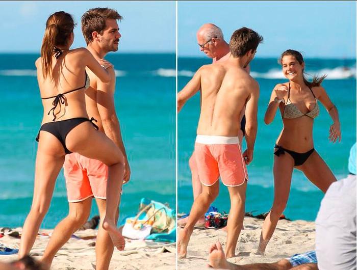 Natalia Sánchez día de playa