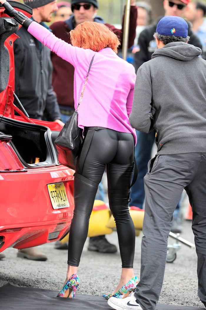 Scarlett Johansson en mallas apretadas