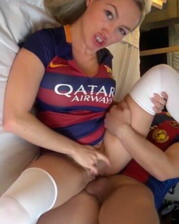 Hincha del Barça follando en un video amateur