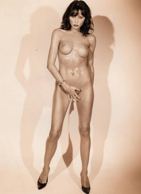 La primera dama Melania Trump desnuda en su juventud