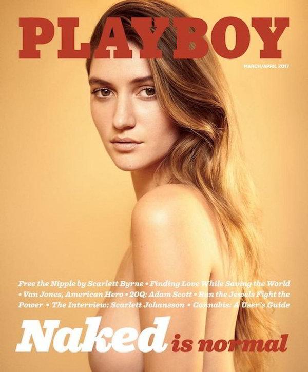 Elizabeth Elam tetas portada revista Playboy