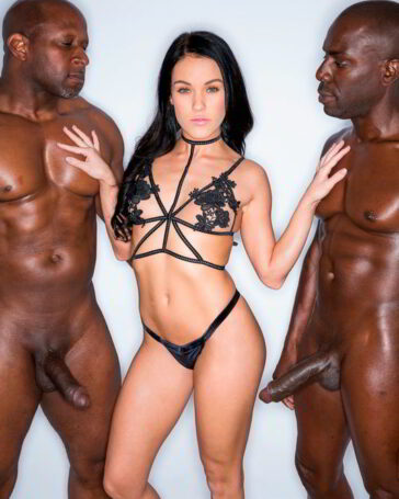 Megan Rain y su primera doble penetración interracial