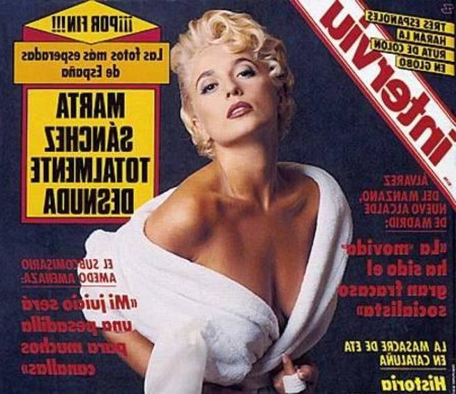 Cantante desnuda Interviu Portada 1990