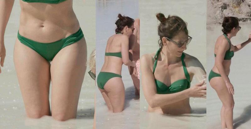 Malena Alterio Bikini Verde Programa Cuatro