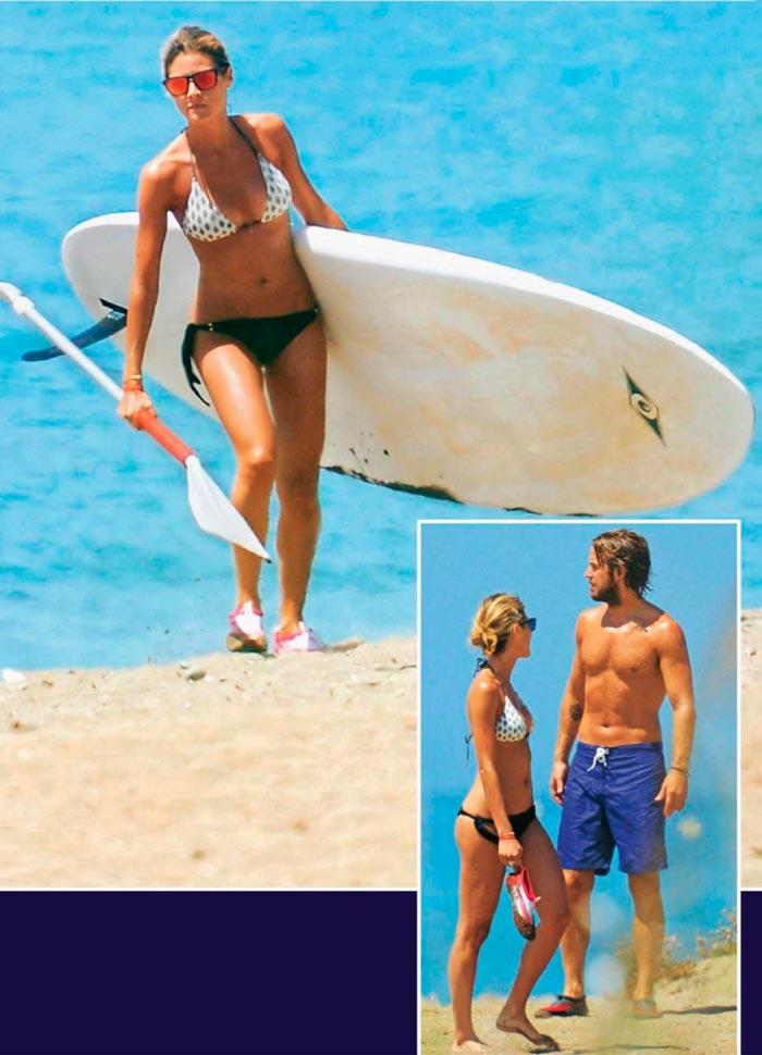 Amaia Salamanca Bikini Surf Vacaciones 2