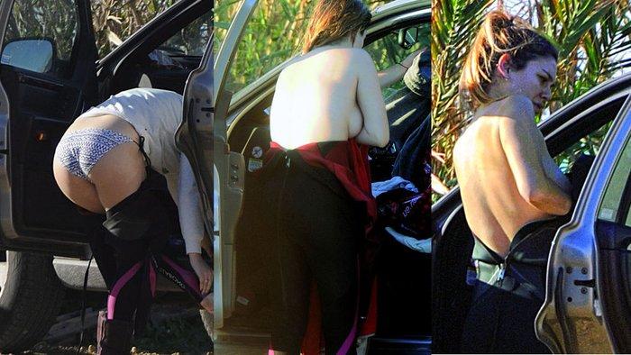 Blanca Suárez pillada cambiándose ropa