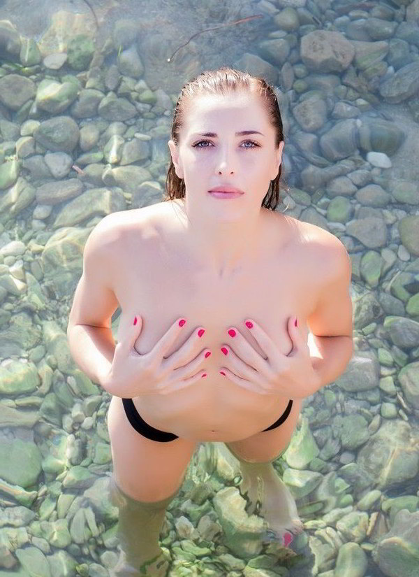Erika Sanz tetas playa