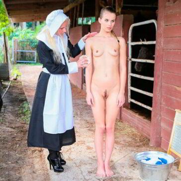 Amish Jillian Janson vende culo