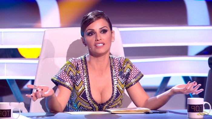 Mónica Cruz escote Top Dance