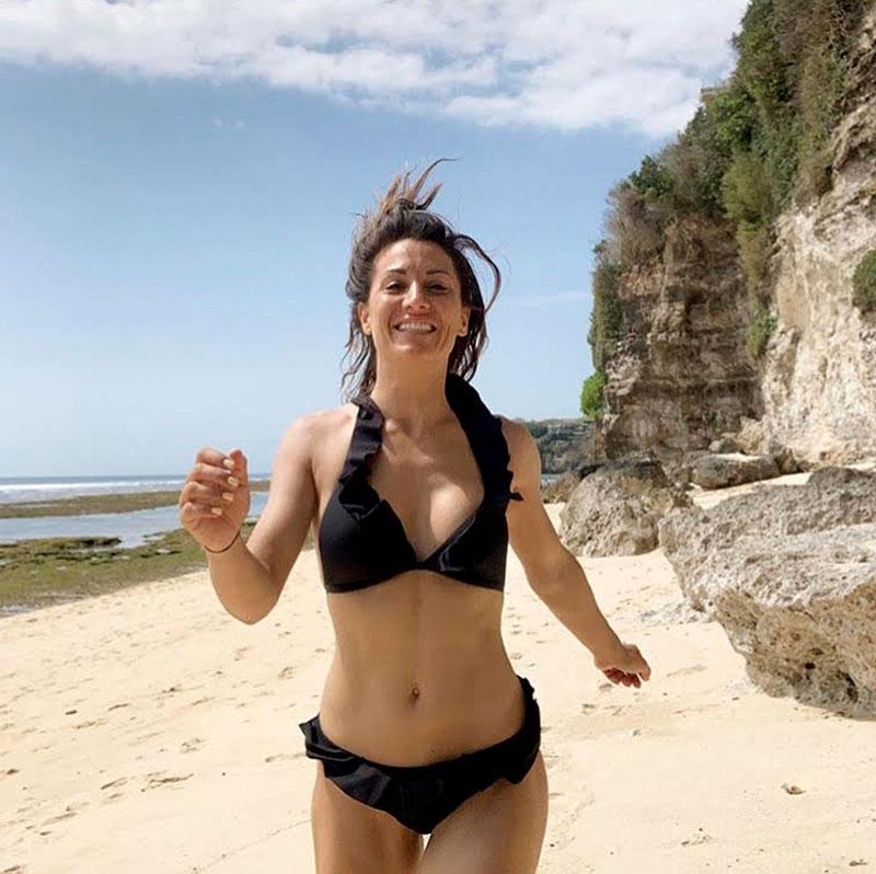 Nagore Robles Bikini Playa Instagram