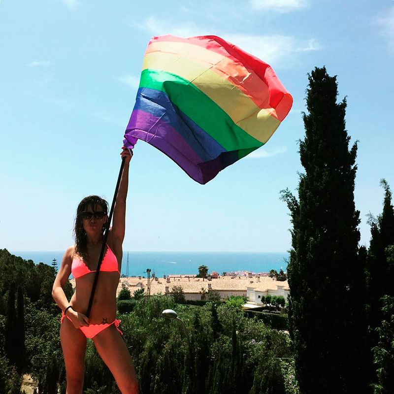 Nagore Robles Bikini Sext Bandera Orgullo Lgtbi