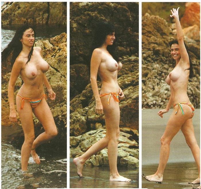 Beatriz Rico pillada topless playa