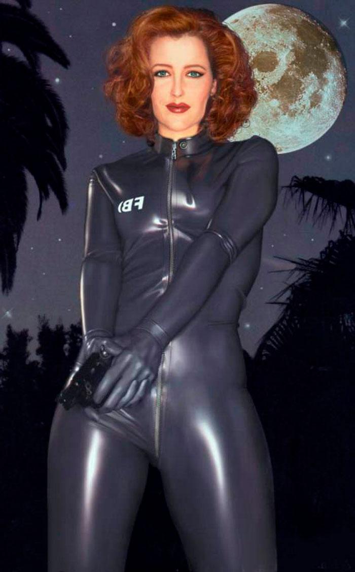 Gillian Anderson Agente Fbi Vestido Sexy Expediente X
