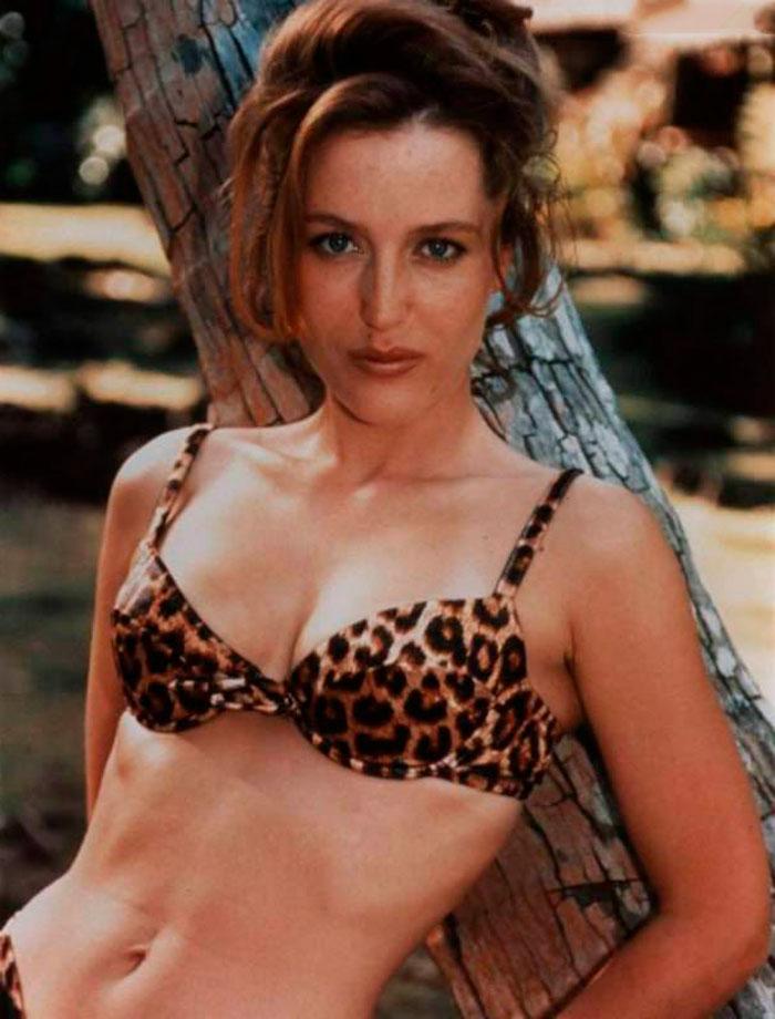 Gillian Anderson Ropa Interior Sujetador Tigresa