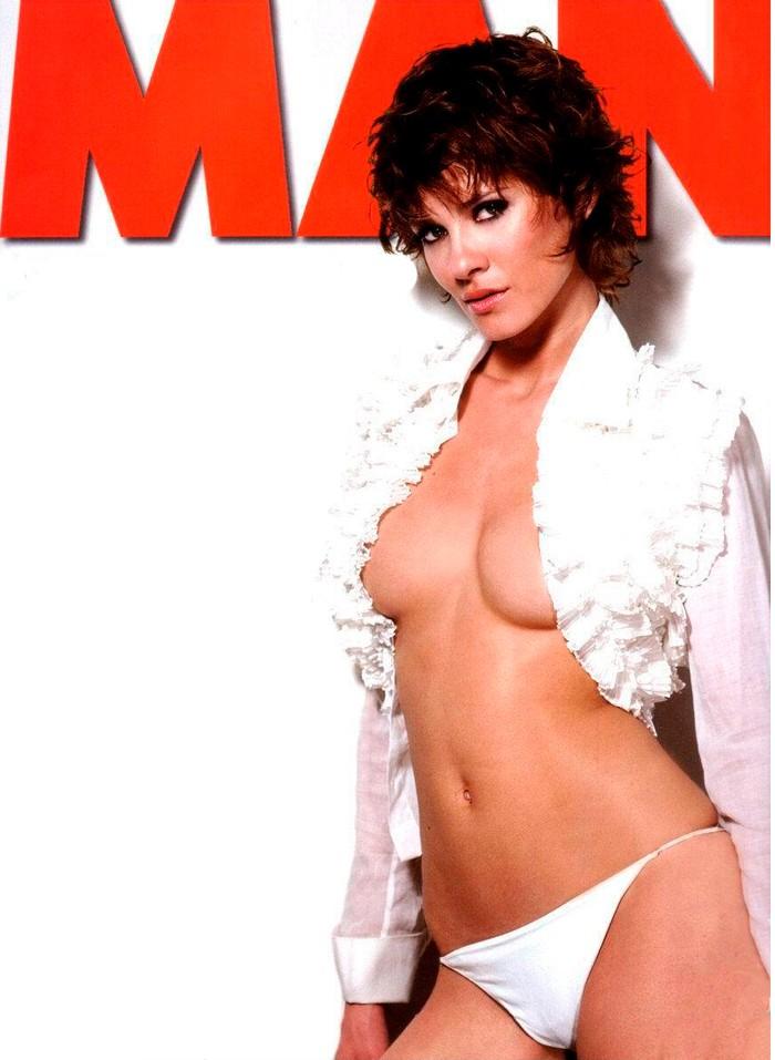 Elena Ballesteros topless revista MAN