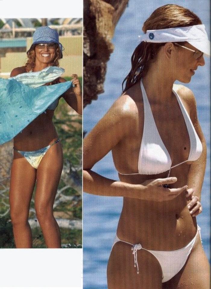 Emma García bikini blanco sexy