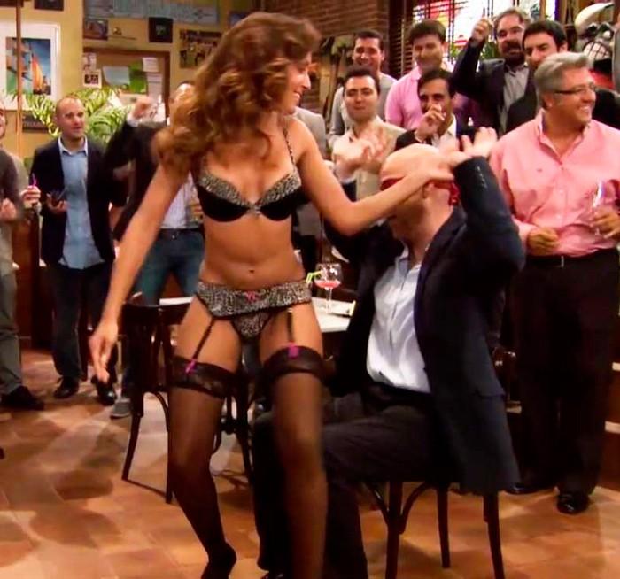 Hiba Abouk striptease Antonio Resines