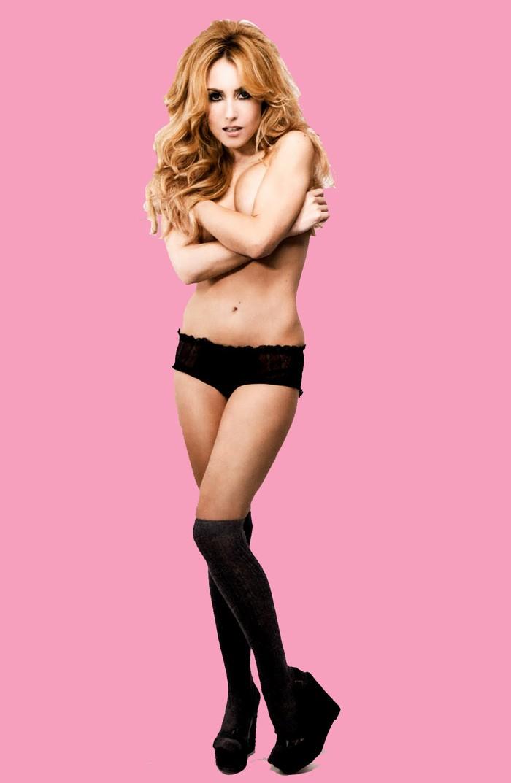 Berta Collado FHM desnuda