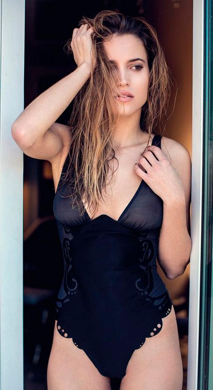 Ana Fernández García posado sexy lencería