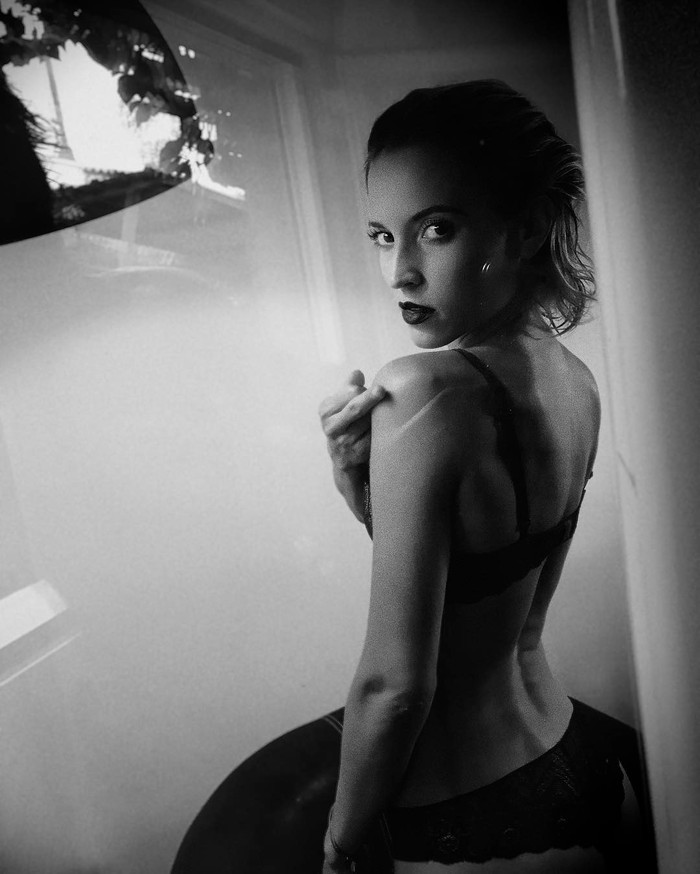 Ana Fernández posado erótico foto selfie