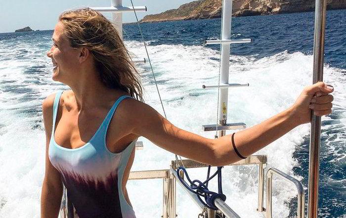 Patricia Montero vacaciones mar