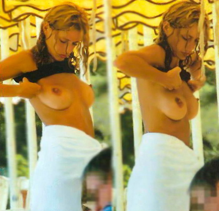 Inma del Moral pillada Topless