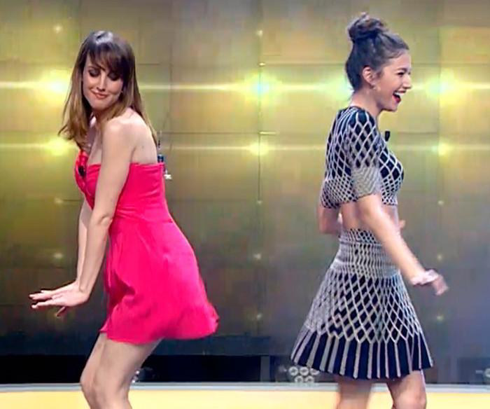 Natalia de Molina bailando en El Horiguero