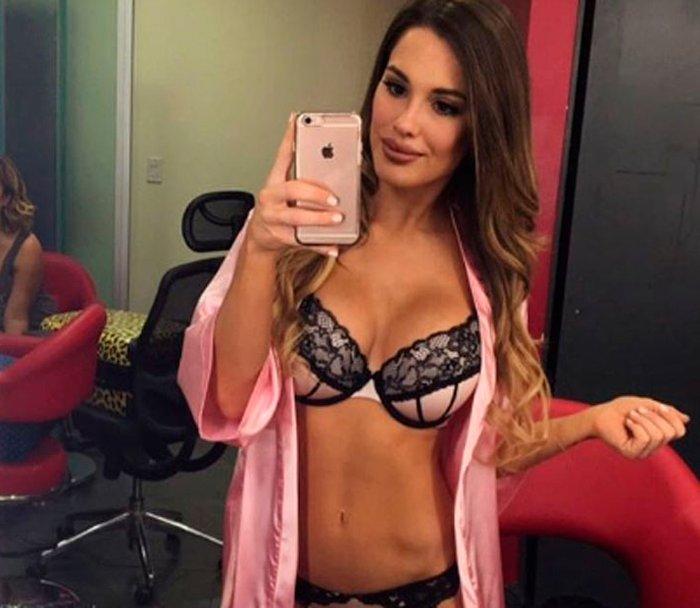 Gala Caldirola en selfie