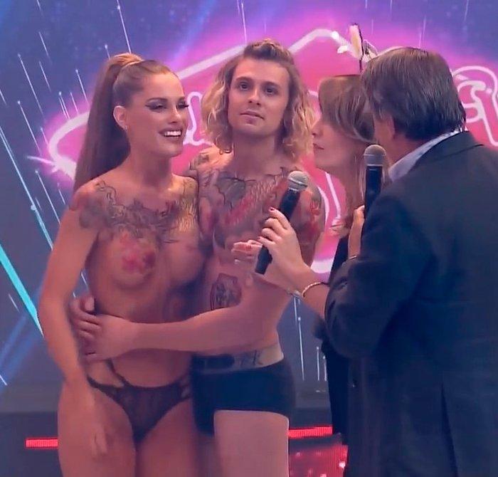 Gala Caldirola show erótico en Tv