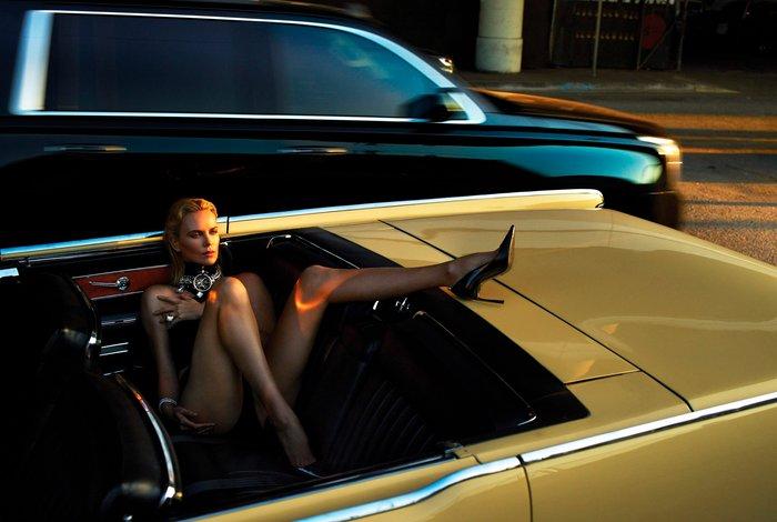 Charlize Theron posado erótico lencería
