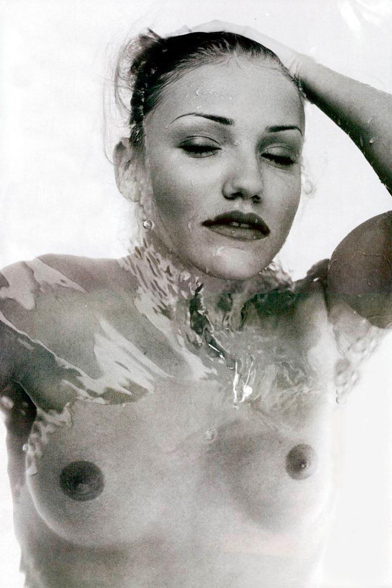 Cameron Diaz Desnuda Topless Posado Artístico