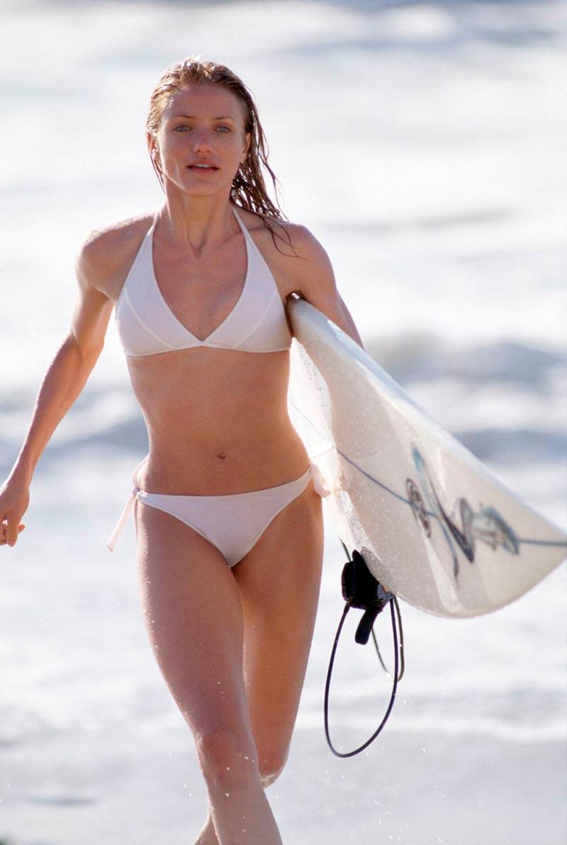 Cameron Diaz Semidesnuda Bikini Vacaciones Mar