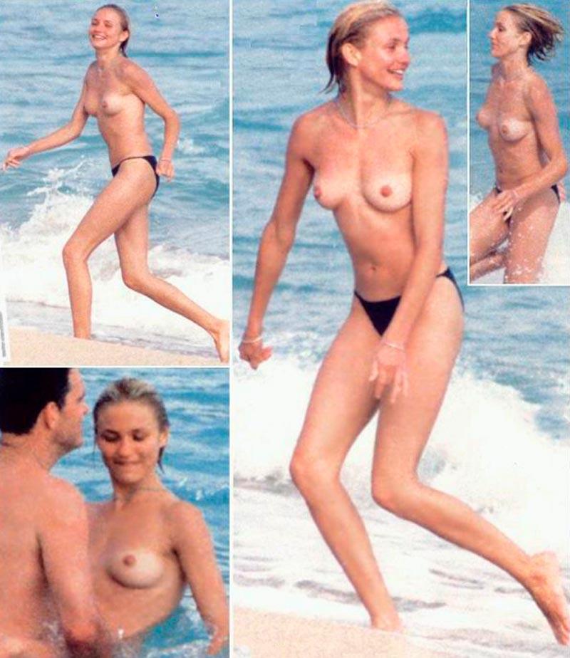 Cameron Diaz Tetas Pillada Paparazzi Topless 3