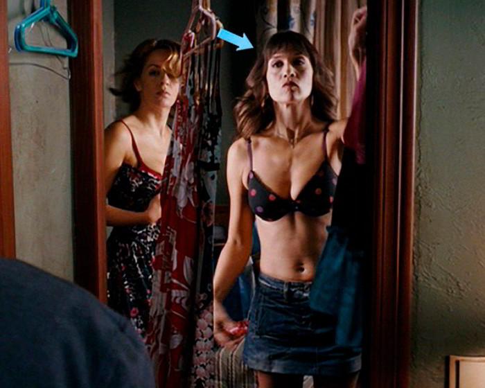 María Botto cambiándose ropa