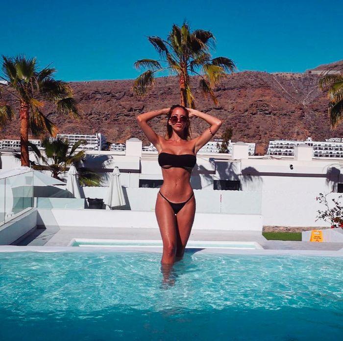 Aurah Ruiz de vacaciones