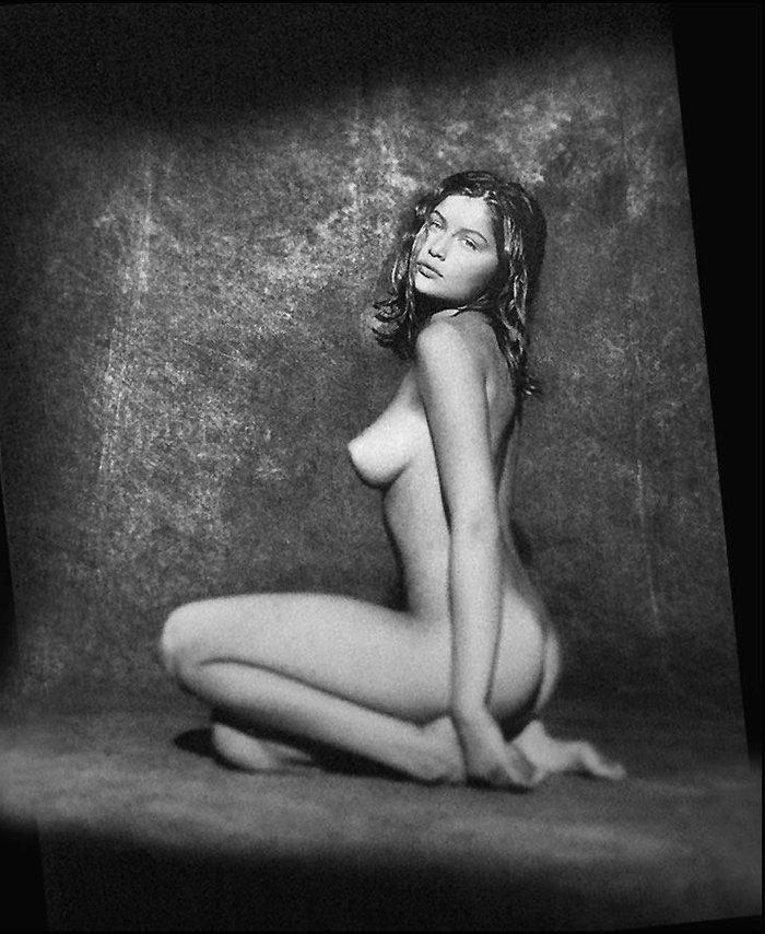 Laetitia Casta fotografía en Blanco y Negro