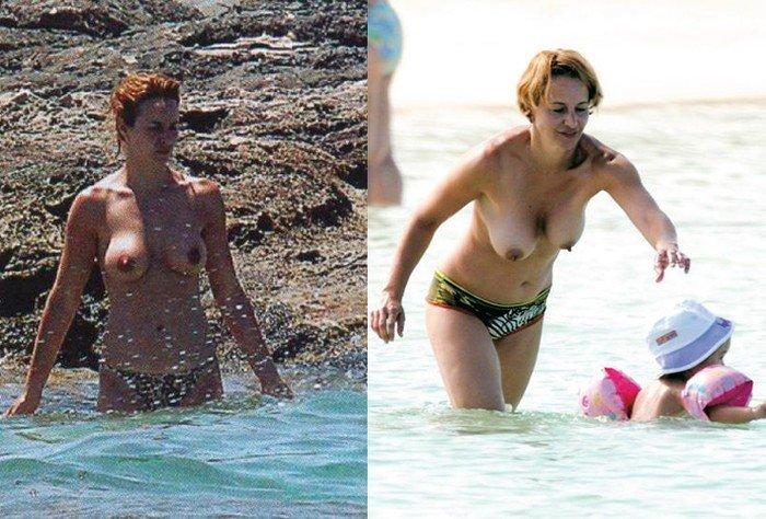 Mar Regueras sin ropa en la Playa