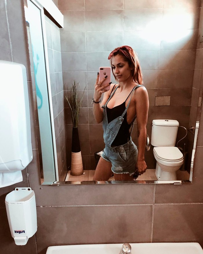 Michelle Calvó selfi erótico