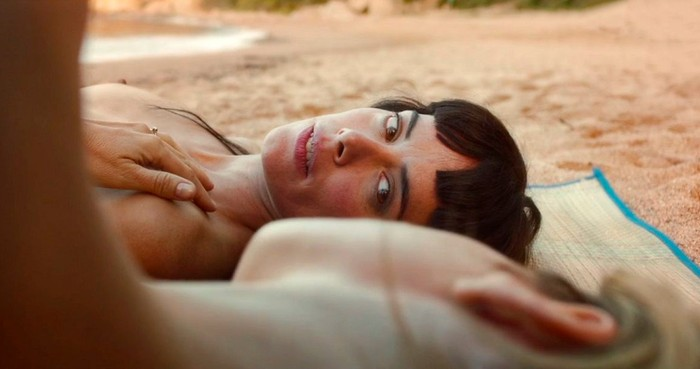 Patricia López pezones playa