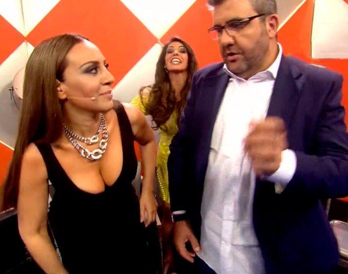 Mónica Naranjo con Florentino en Televisión