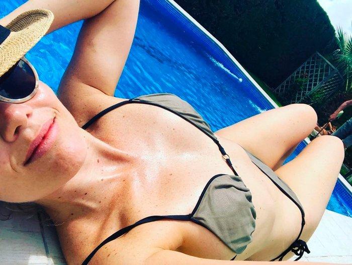 Lisi Linder en bikini