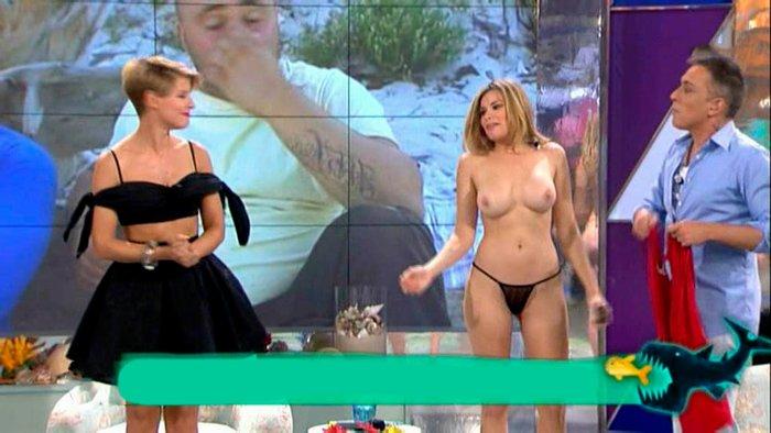 Maria Lapiedra desnuda concurso Tv