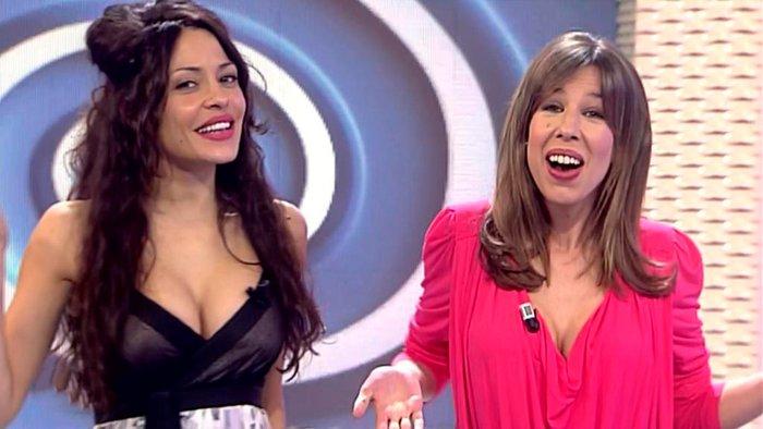 Patricia Pérez presentando Vuélveme Loca