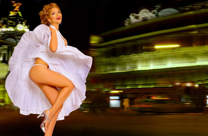 Beatriz Trapote falda levantada
