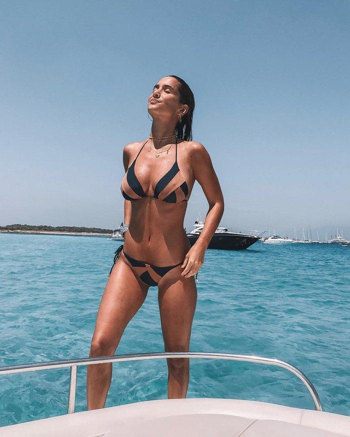 María Pombo modelo de ropa catalana