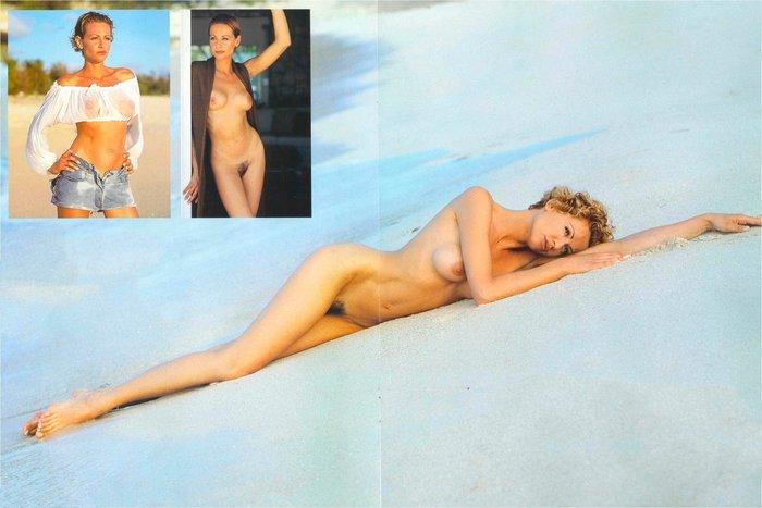 Esther Arroyo desnuda en arena