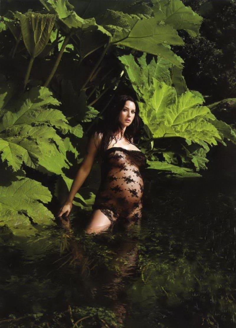 Monica Bellucci Desnuda Embarazada Fotos Moda 4